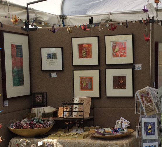 Items for sale in art festival booth