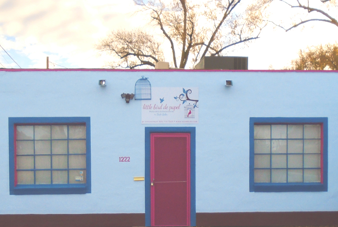 Little Bird de Papel's studio on Mountain Road in Albuquerque, NM