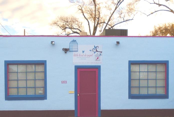 Little Bird de Papel's studio on Mountain Road in Albuquerque, NM