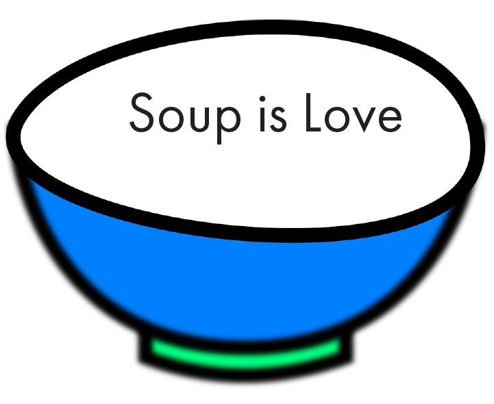 Graphic soup bowl