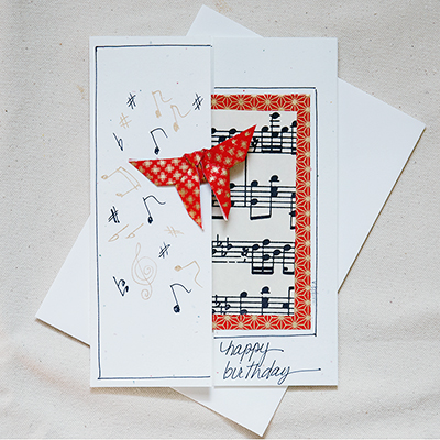 For Music Lovers 1200 Handmade Birthday Card