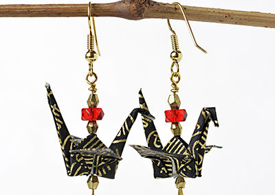 233A_Black_Earrings_Paper_Handmade_Jewellery_Origami_Gift_Ideas_Anniversary