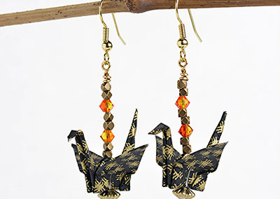 235A_Black_Gold_Handmade_Paper_Earrings_Jewelry_Cool_Origami_Her_First_Year_Anniversary_Birthday_Gift_Ideas