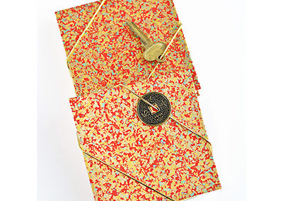 302F_Red_Gold_Handbound_Accordian_Journal_Japanese_Paper_Key_Coin_Closure